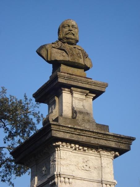 Buste de Camille Godard dans le Parc Bordelais